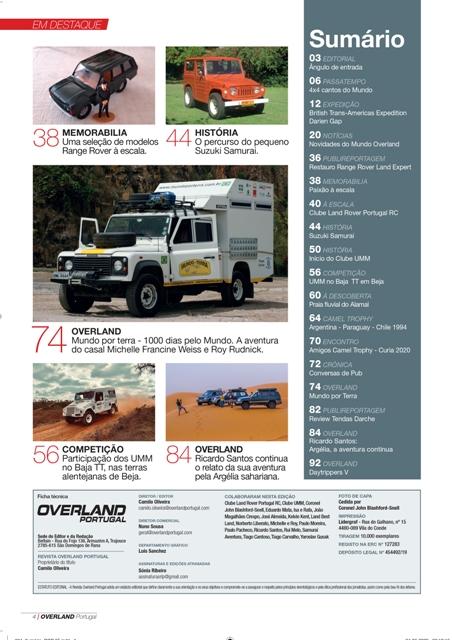 Edição Nº5 Revista OVERLAND Portugal